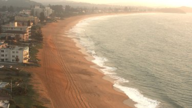Before the storm: Narrabeen's coastline prior to the severe storm and record waves that eroded the coastline.