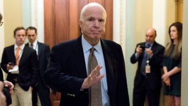 John McCain was among Republicans speaking out against the president's announcement.
