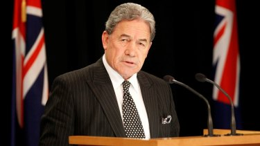 New Zealand First leader Winston Peters announces a coalition deal with Labour.