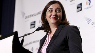 Oppositzion Leader Anastascia Palaszczuk at the Leaders Debate at the Brisbane Convention Centre.