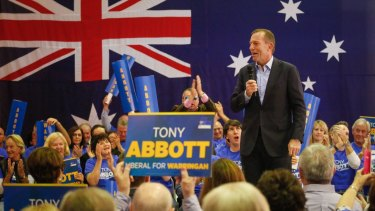 Tony Abbott at the launch of his ninth campaign for the seat of Warringah.