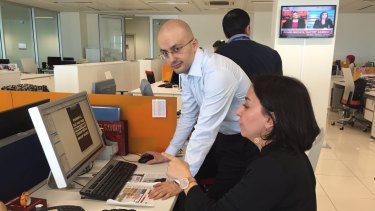 The final touches: Sevgi Akarcesme said there had been a tip-off 24 hours beforehand of an impending takeover.