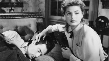 Gregory Peck had an affair in 1945 with Ingrid Bergman, his co-star in  Alfred Hitchcock's <i>Spellbound</i>.