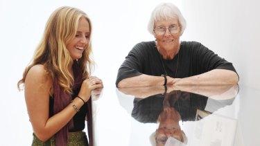 Artist Michelle Collocott, right, with Art Express artist Emma Tye.