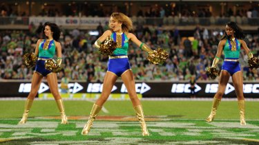 The Emeralds perform at a Raiders game in 2014.