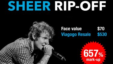 Choice uncovered extensive market-ups on tickets for a variety of events, including for the Ed Sheeran concert.