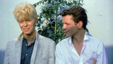 Davies and David Bowie when they toured together in 1983.