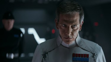 Ben Mendelsohn portrays Director Krennic in <i>Rogue One: A Star Wars Story</i>.
