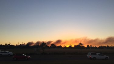 A view of the fire from Pascoe Vale Road, Pascoe Vale.