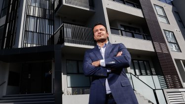Building: Director of Shangri La property developers Obaid Naqebullah at 58 Queens Parade, North Fitzroy.