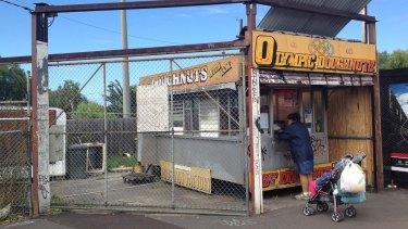 The Olympic Doughnuts shop at Footscray Station.