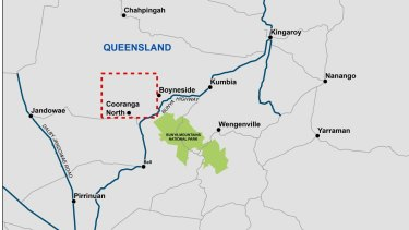 The Coopers Gap Wind Farm is set to be built between Dalby and Kingaroy.