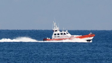 An Italian vessel from the European border agency Frontex assists the Greek Coast Guard in the search for survivors after a boat sank near the  Greek island of Samos.