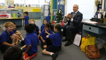 Education Minister Adrian Piccoli visited the Ultimo Public School in December 2014.