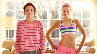 Robyn Butler (left) with Lucy Fry in the comedy <i>Now Add Honey</i>.