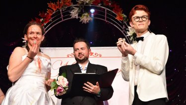 Zoe Coombs Marr and Rhys Nicholson do marriage their way.