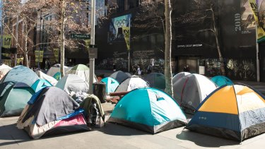 The tent city in Martin Place is offensive - but not because its occupants are homeless.