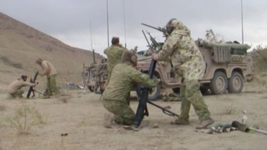 Unauthorised DVD: Soldiers in images from the <i>The Fist</i>.