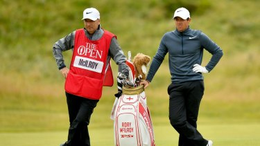 All over: McIlroy will have a new caddie on his bag at the World Golf Championships Bridgestone Invitational this week after ending his nine-year relationship with Fitzgerald.