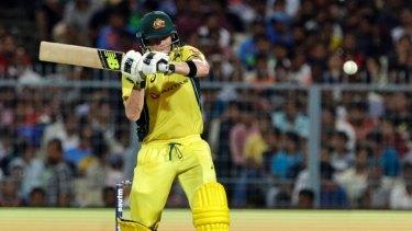 Skipper Steve Smith bats for Australia.