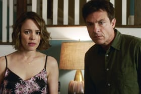 Rachel McAdams, left, and Jason Bateman in Game Night.