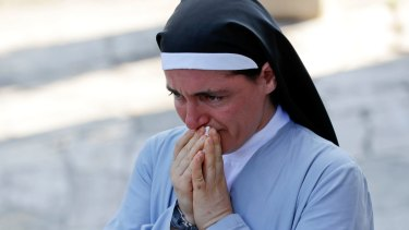 Sister Marjana Lleshi was one of three nuns and an elderly woman who survived the earthquake  when she escaped a collapsing convent in Amatrice.