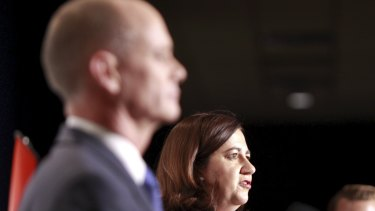 Premier Campbell Newman and Oppositzion Leader Anastascia Palaszczuk at the Leaders Debate at the Brisbane Convention Centre.   Photo Renee Melides  DQoNCg0KDQo  _A0C2219.jpg
