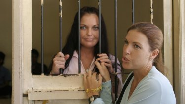 Corby's sister Mercedes, right, has been fiercely protective of her.