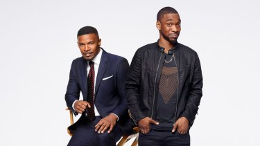 Jamie Foxx and Jay Pharaoh in White Famous.