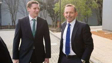 Andrew Hastie was echoing his old boss Tony Abbott as Sportsbet paid out on the Canning byelection.