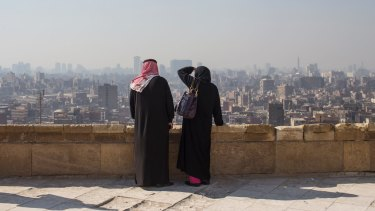 A slump in tourism has meant solitude for tourists at some of Cairo's historic sites.