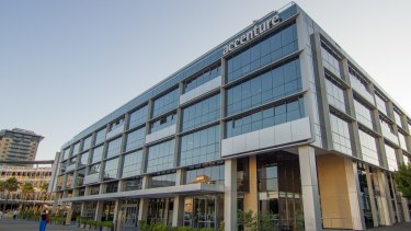 Cloud giant Accenture's office in Pyrmont, Sydney.