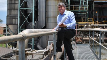 Moreton Bay mayor Allan Sutherland at the old Petrie paper mill, which will be converted into a university precinct.