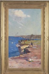 <i>Blue Pacific</i> by Arthur Streeton, on long-term loan to the National Gallery in London.