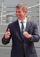 """""""We make no apologies for funding our police force"""": Premier Mike Baird."""