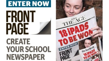 Front Page is the new newspaper competition for schools.