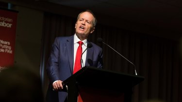 Australian Labor Party leader Bill Shorten at the ALP state conference.