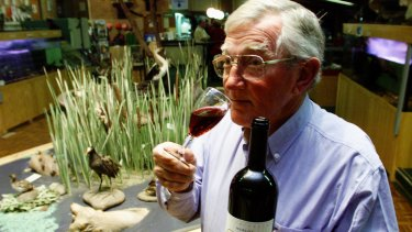 Frank Margan tasting one of the family's wines.