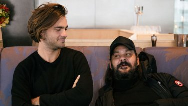 Dylan River and Warwick Thornton at the Australian International Screen Forum in New York.