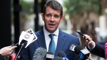 """""""Look at what they have been through"""": Premier Mike Baird on Tuesday."""