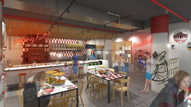 Pizza Hut is introducing new-look restaurants, with the first to open at Divercity, Waterloo.