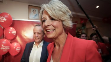Opposition Leader Bill Shorten and Labor candidate for Bennelong Kristina Keneally: a very poor result for Labor.