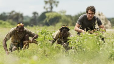 Going native: Todd Sampson hunting with the Hazda tribe in Tanzania.