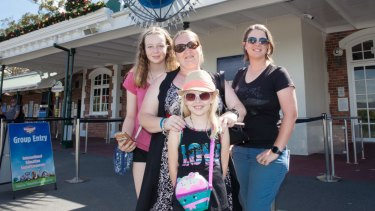 Guests arrive at the Dreamworld reopening.