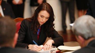 Jacinda Ardern was sworn in on Thursday.