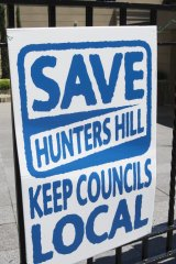 Hunters Hill community members displayed their dislike of the forced amalgamation of local councils.