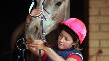 Michelle Payne in 2001.