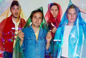 Grizzly Bear, with Ed Droste second from left.