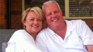 Julie Bullock, pictured with her husband Darren, was killed while driving her twins to school.