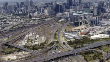 The off-ramps Transurban is planning for the site.